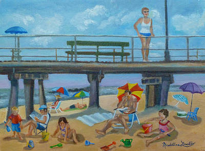 Painting - Down By The Seashore In Ocean Grove, N.j. by Madeline Lovallo