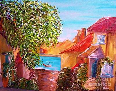 Panama City Beach Painting - Down By The Water by Eloise Schneider
