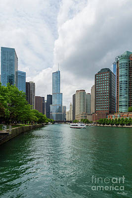 Photograph - Down Chicago River by Jennifer White