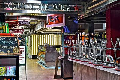 Down Home Diner Print by Frozen in Time Fine Art Photography
