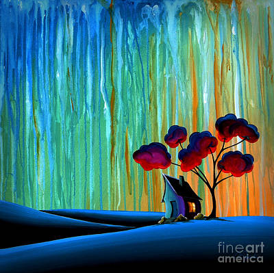 Dreamscape Painting - Down In The Valley by Cindy Thornton