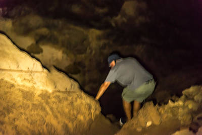 Photograph - Down Into The Abyss Of A Lava Tube by Harry Strharsky