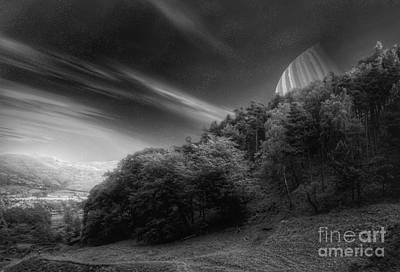 Science Fiction Mixed Media - Down Into The Valley by Abbie Shores