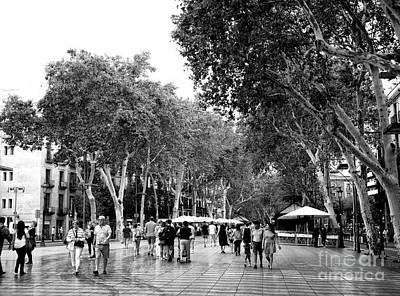 Photograph - Down La Rambla by John Rizzuto