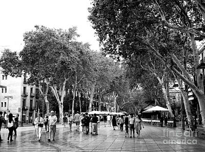 Photograph - Down La Rambla Barcelona by John Rizzuto