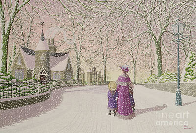 Down Lodge Lane Art Print by Peter Szumowski