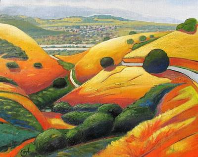 Print featuring the painting Down Metcalf Road by Gary Coleman