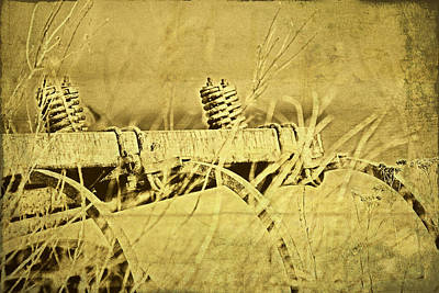 Hay Photograph - Down On The Farm by Tom Mc Nemar