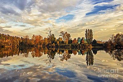 Photograph - Down On The River In The Autumn by Sonya Lang