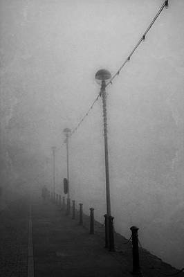 Down On The Waterfront. A Dark And Eerie Fine Art Photographic Print  Art Print by Lee Thornberry