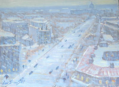 Washington D.c Painting - Down Pennsylvania Avenue by Len Stomski