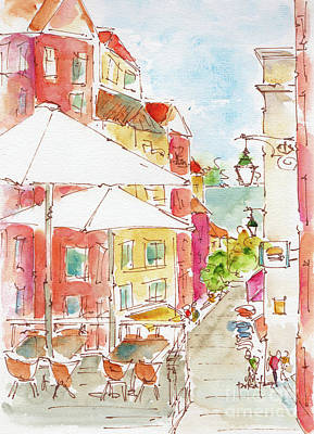 Painting - Down Rua Serpa Pinto Lisbon by Pat Katz