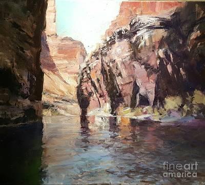 Down Stream On The Mighty Colorado River Art Print
