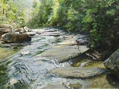 Painting - Down Stream by William Brody