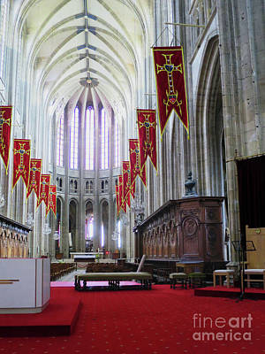 Photograph - Down The Aisle - Orleans Cathedral by Rick Locke