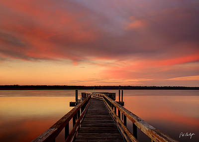 Down The Dock Art Print by Phill Doherty