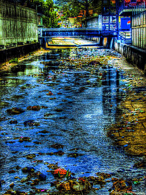 Flooding Digital Art - Down The Drain by Sarita Rampersad