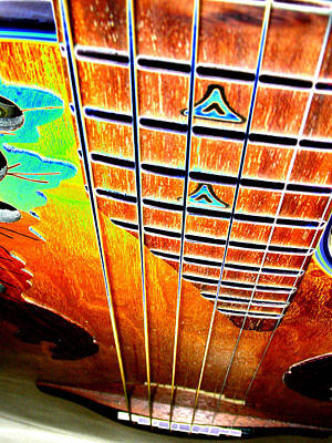 Down The Fingerboard Art Print by Peter  McIntosh