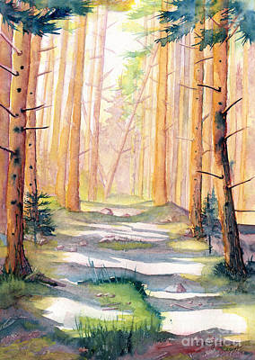 Painting - Down The Forest Path by Melly Terpening
