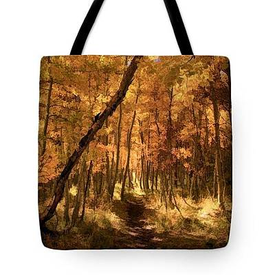 Photograph - Down The Golden Path - Tote by Donna Kennedy