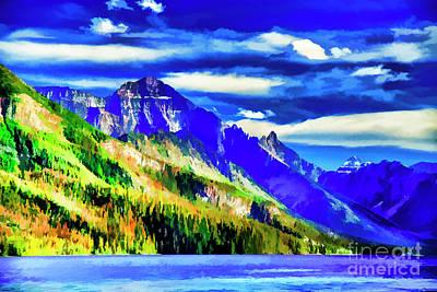 Digital Art - Down The Lake by Rick Bragan