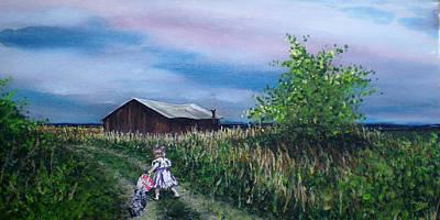 Down The Lane Art Print by Bill Brown