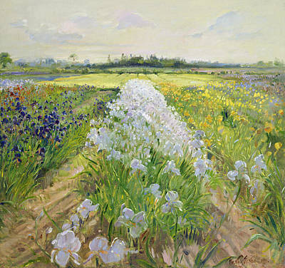 Perspective Painting - Down The Line by Timothy Easton