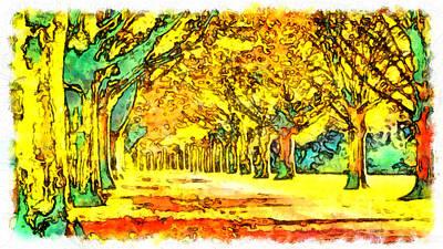 Digital Art - Down The Path To Oz by Mario Carini