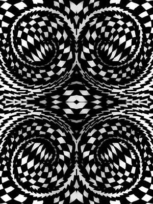 Checkered Pattern Drawing - Down The Rabbit Hole by Shantanu Tilak