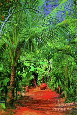 Digital Art - Down The Red Path by Rick Bragan
