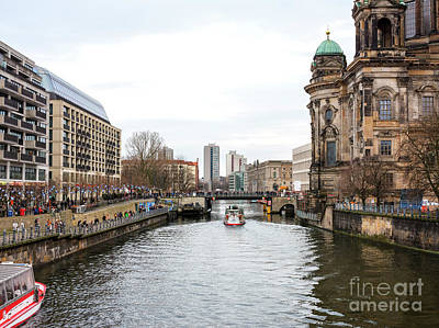 Photograph - Down The River Spree In Berlin by John Rizzuto