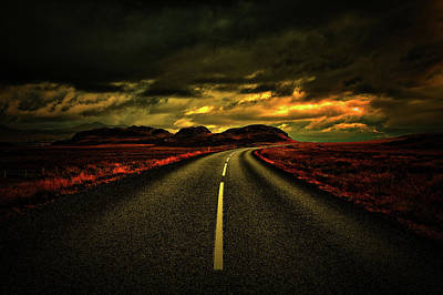 Art Print featuring the photograph Down The Road by Scott Mahon