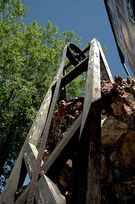 Nevada Photograph - Down The Shaft II by LeeAnn McLaneGoetz McLaneGoetzStudioLLCcom