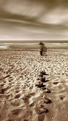 Brown Tones Photograph - Down The Shore by Wim Lanclus