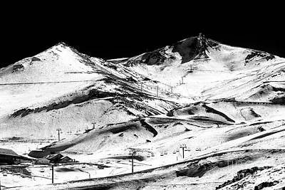 Photograph - Down The Slope At Valle Nevado Chile by John Rizzuto