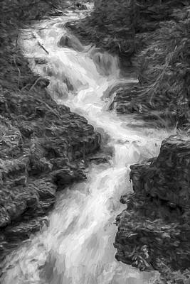 Down The Stream II Art Print by Jon Glaser