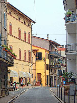 Photograph - Down The Street Tavernelle Umbria by Dorothy Berry-Lound