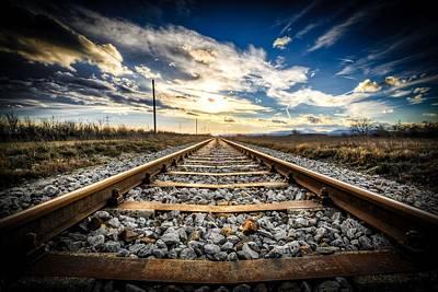Digital Art - Down The Tracks by Michael Damiani