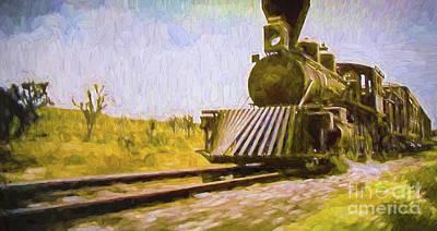 Digital Art - Down The Tracks by Steven Parker