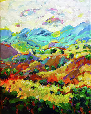 Wall Art - Painting - Down Toward The Valley by Charles Wallis