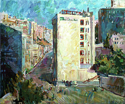 Painting - Down Town In Amman by Juliya Zhukova