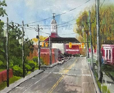 Painting - Down Town Jacksonville Nc by Jim Phillips