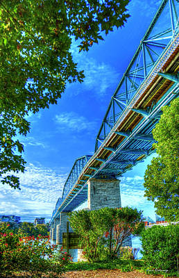 Photograph - Down Under Walnut Street Pedestrian Bridge Chattanooga Tennessee Art by Reid Callaway