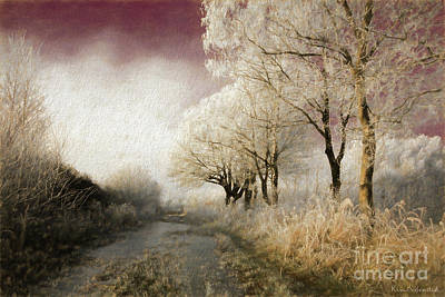 Photograph - Down Winter Road by Kira Bodensted