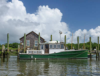 Photograph - Downeast Style Yacht Docked On Shem Creek In Charleston by Dale Powell