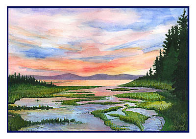 Downeast Sundown Art Print by Ernestine Grindal