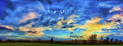 Downeast Maine Photograph - Downeast Sunset Cloudscape by ABeautifulSky Photography by Bill Caldwell