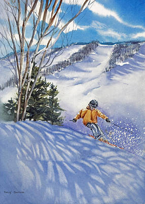 Downhill-rhythm Art Print by Nancy Newman
