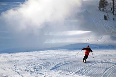 Photograph - Downhill Run by James Kirkikis