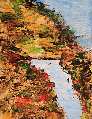 Painting - Downhill Stream Abstract by April Burton